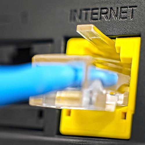 Close up of ethernet cable